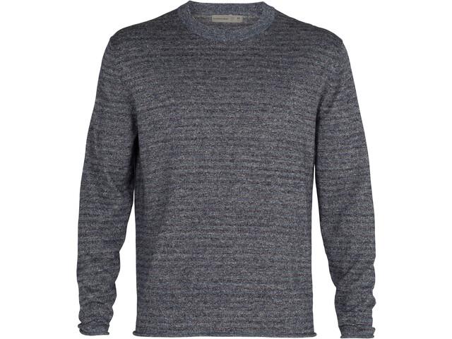 Icebreaker Flaxen LS Crew Sweater Men serene blue heather